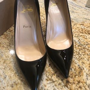 55be14a7147 Christian Louboutin Shoes - Christian Louboutin Pigalle black patent 85mm  pump